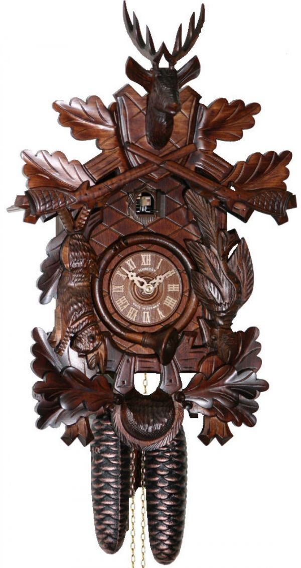 Engstler 738/8  'After the Hunt' 8 Day Clock